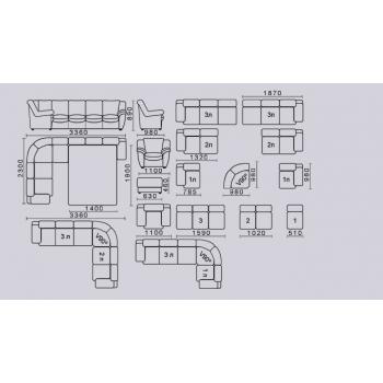 Диван модульный Триумф-2 (С)