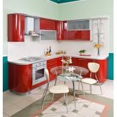 Кухни с пластиковым фасадом (34)